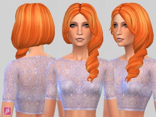 Alexandra Simblr: Ginger Kisses Hair Recolors for Sims 4