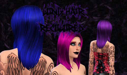 Sims 4 Custom Content: First hair recolor for Sims 4