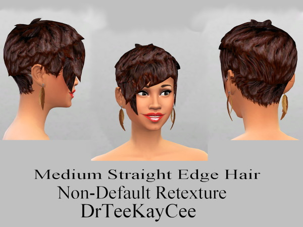 Sim Culture Nation: Medium straight edge hairstyle for Sims 4