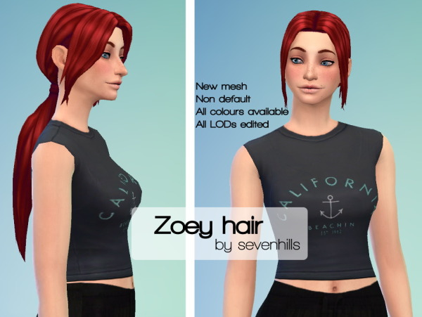 Sevenhills Sims: Zoey hairstyle 300 followers gift for Sims 4