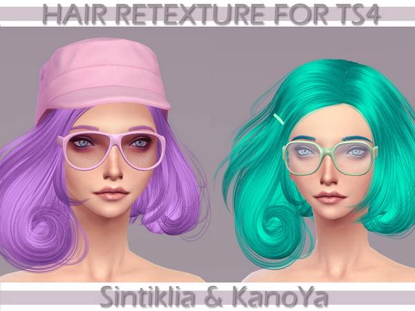 KanoYa Sims: Sintikilia`s Scarlet hairstyle retextured for Sims 4
