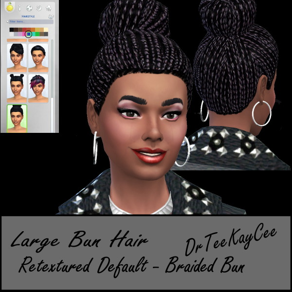 Sim Culture Nation: Large bun hairstyle for Sims 4