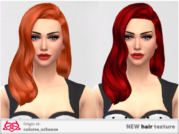 The Sims Resource: New hairstyle textures 01 by Colores Urbanos for Sims 4