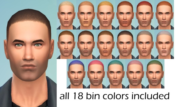 Mod The Sims: Short Stuff female to male hairstyle conversion for Sims 4
