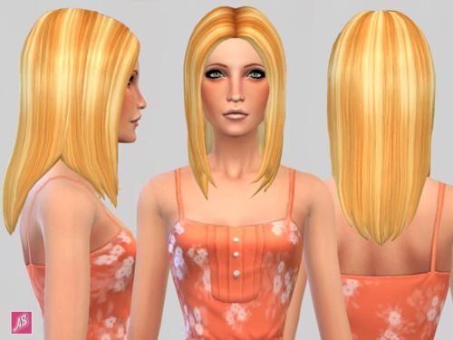 Alexandra Simblr: Summer Blonde Hair Recolors for Sims 4
