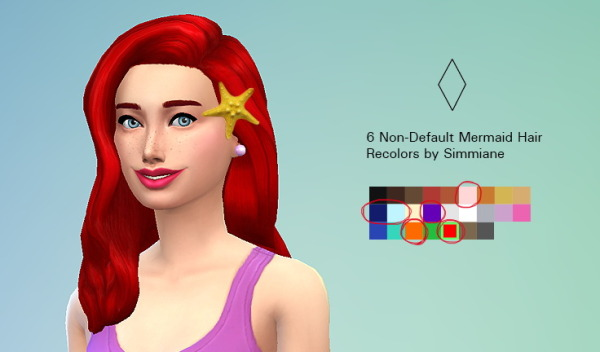 Simmiane: Mermaid hairstyle for Sims 4