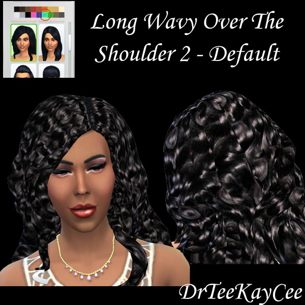 Sim Culture Nation: Long Wavy hairstyle for Sims 4