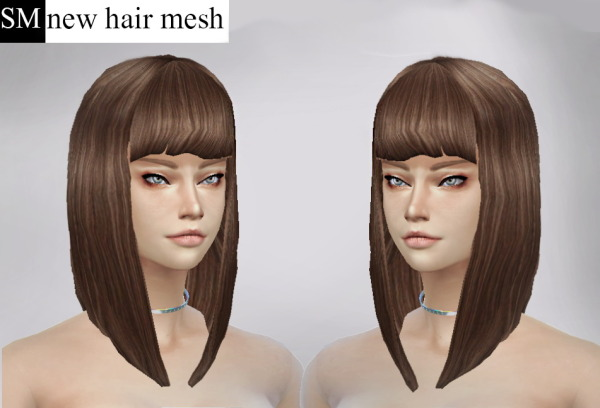 Simmaniacos: Short bob hairstyle for Sims 4