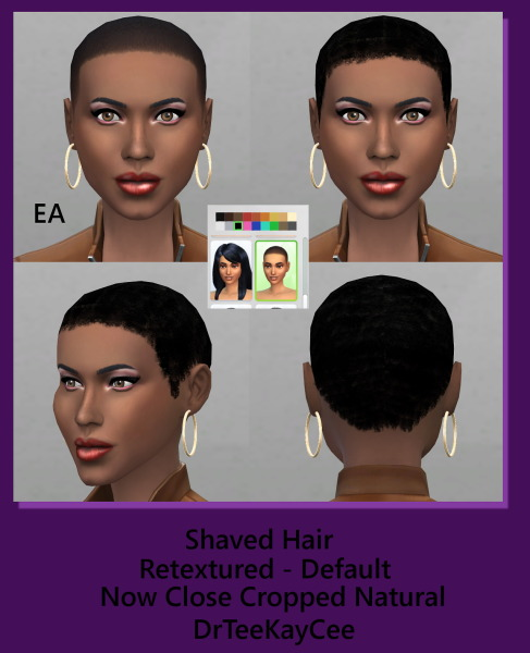 Sim Culture Nation: Shaved hairstyle for Sims 4