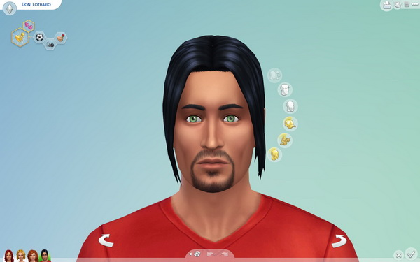 Mod The Sims: Long Ponytail for men by Sydria for Sims 4