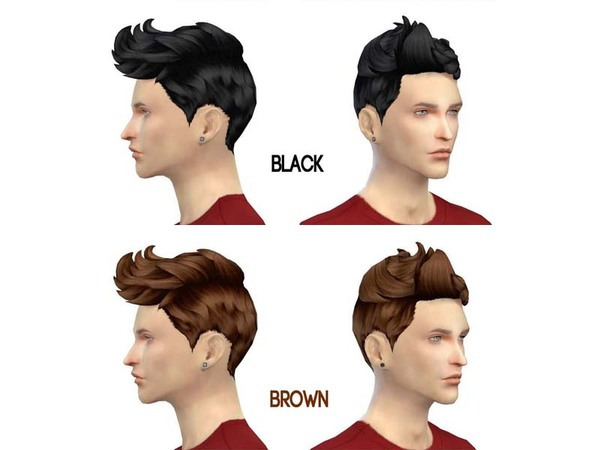 The Sims Resource: The plane head hairstyle by The 77 sims for Sims 4