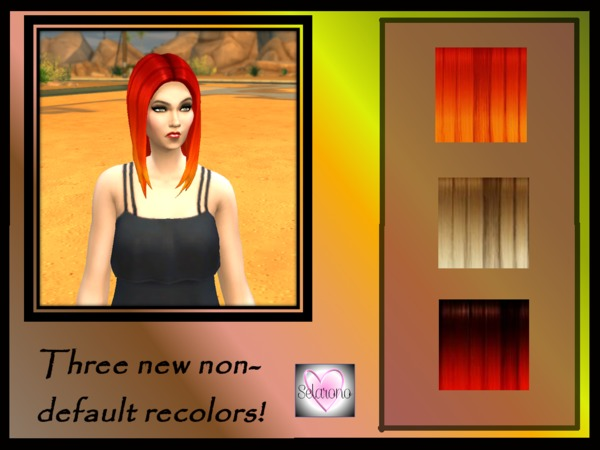The Sims Resource: Hombre Straight Hairstyle by Selarono for Sims 4