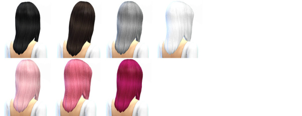 Miss Paraply: Hair retexture 45 colors. for Sims 4
