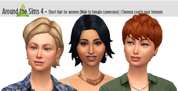 Around The Sims 4: Short hairstyle for Sims 4