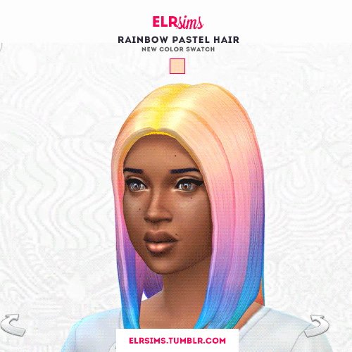 ELR Sims: Pastel hairstyles recolors for Sims 4