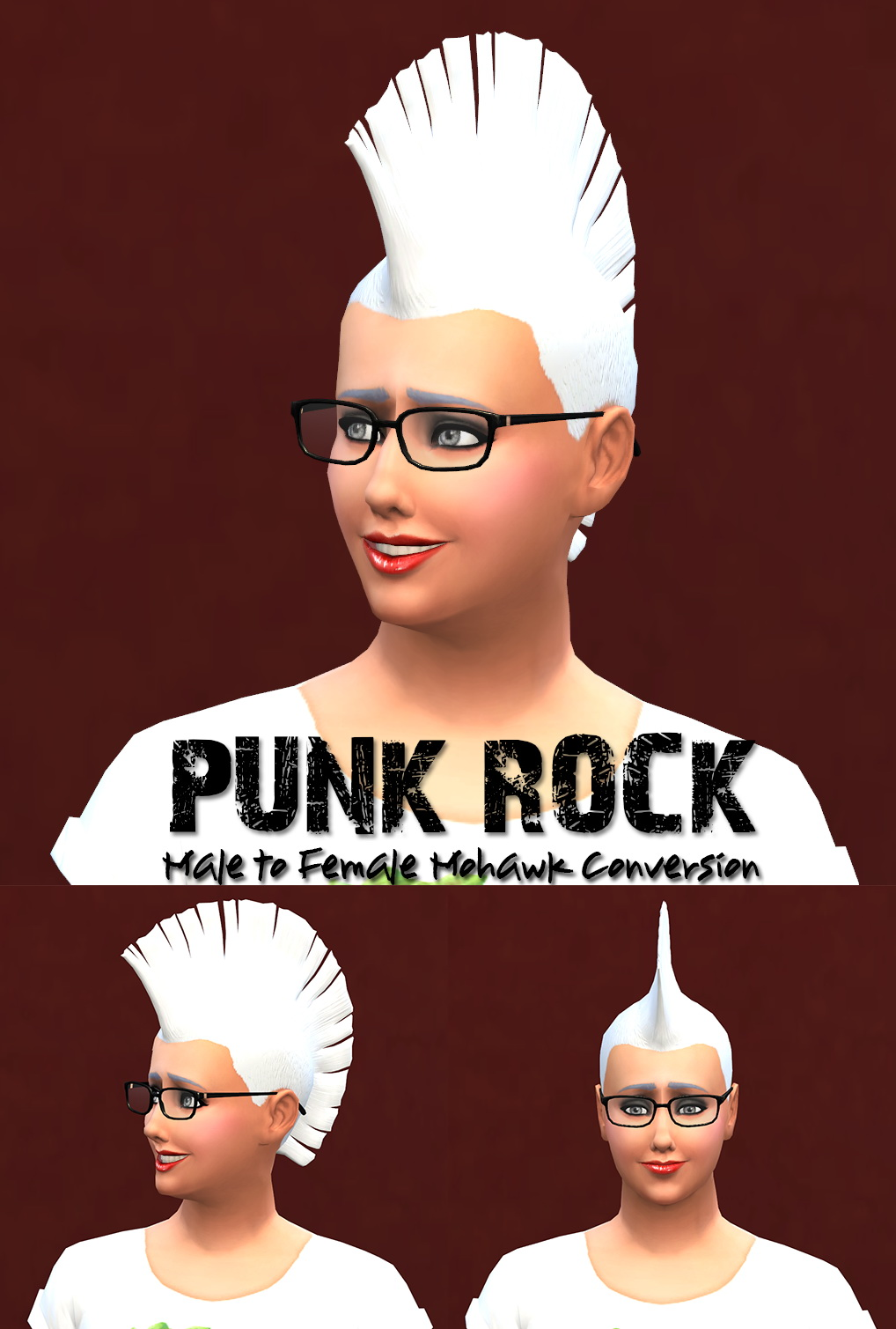 Sims 4 Hairs Jorgha Haq Punk Rock Male To Female