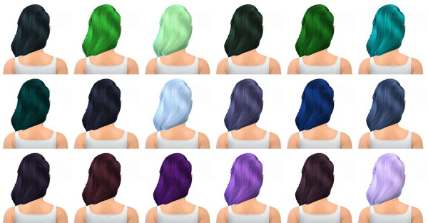Miss Paraply: Hair retexture for Sims 4
