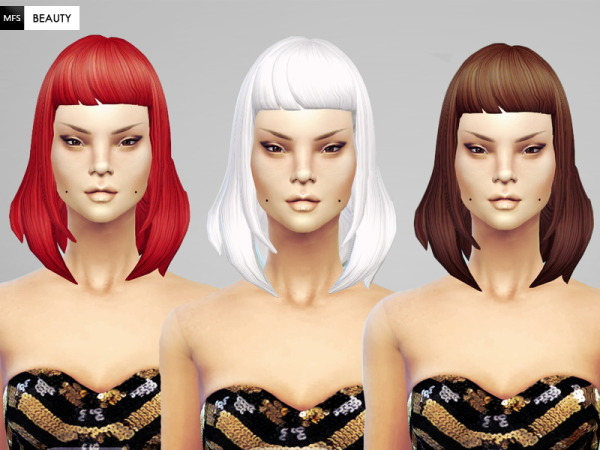 Miss Fortune Sims: Straight hairstyle for Sims 4