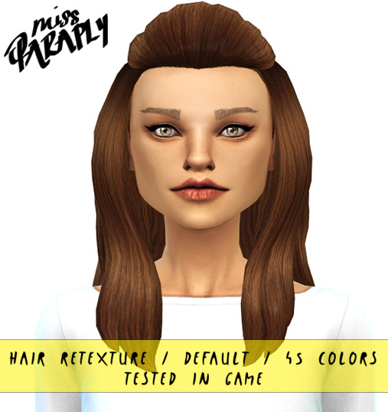 Miss Paraply: Hairstyle retextured for Sims 4