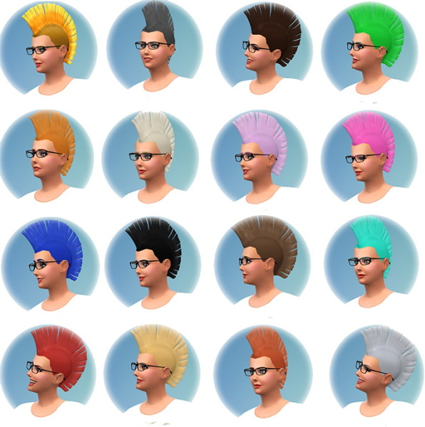 Jorgha haq: Punk Rock male to female conversion hairstyle 1450 followers gift for Sims 4