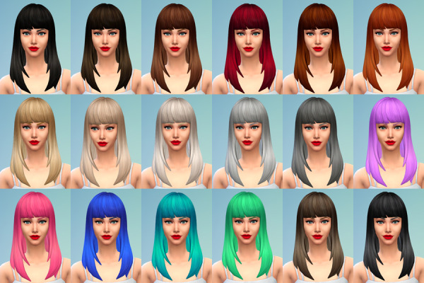 Delirium Sims: Default replacement hairstyle for Sims 4