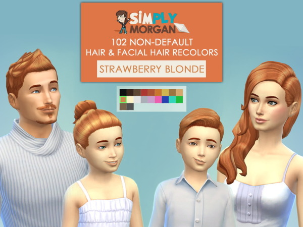 select a Website   : Strawberry Blonde Hairstyle for Sims 4