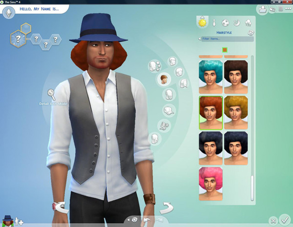 Mod The Sims: Big Afro for Men  by Esmeralda for Sims 4