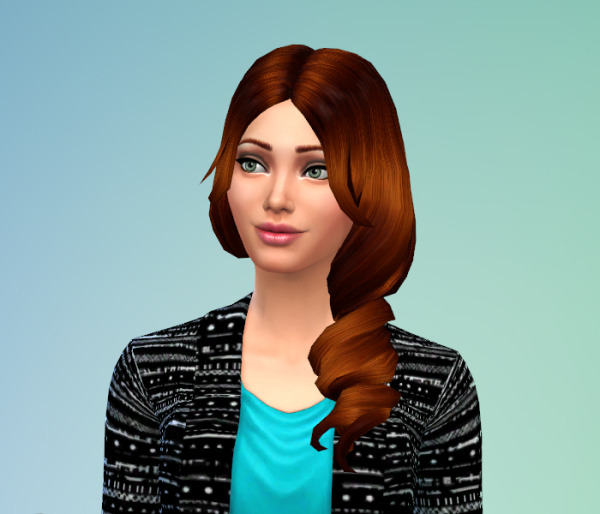 Delirium Sims: Long Wavy airstyle for Sims 4