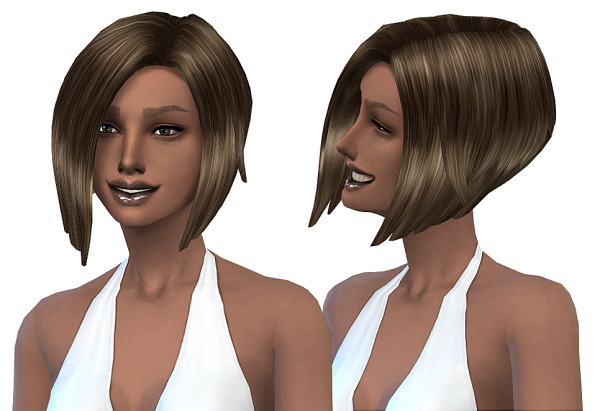 Miss Paraply: Hairstyle retextured 24 colors for Sims 4