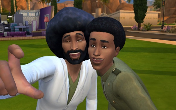 Mod The Sims: Afros hairstyle for men by Sydria for Sims 4