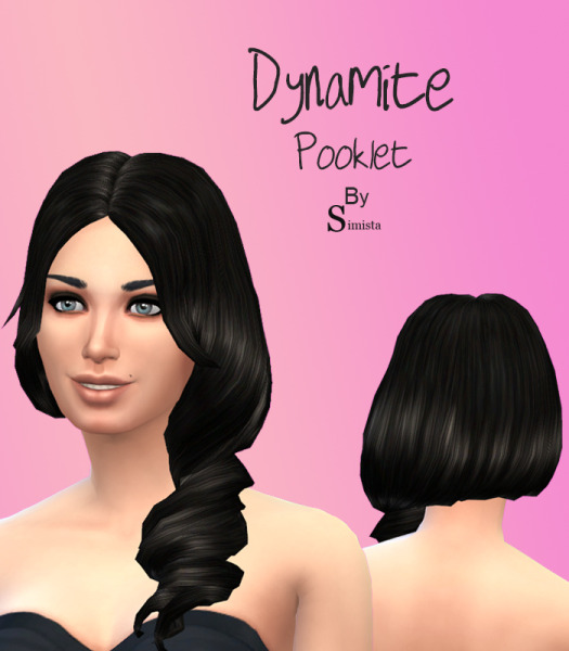 Simista: Hair Curl Side Pooklet Default Replacement Hairstyle for Sims 4