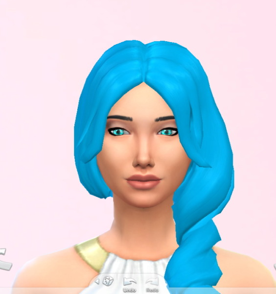 Stars Sugary Pixels: Sky blue hairstyle for Sims 4