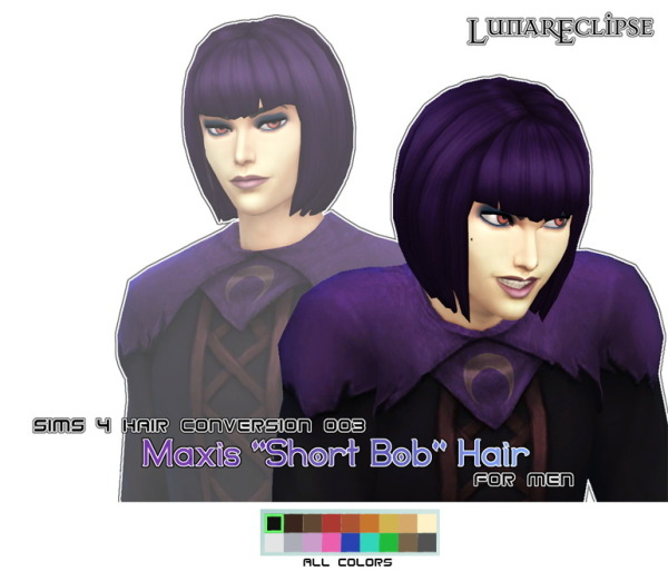 Eclipse Sims 4: Short bob hairstyle for Sims 4