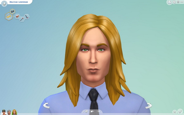 Mod The Sims: Long Rocker Hairstyle for men by Sydria for Sims 4