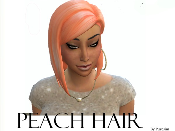 The Sims Resource: Peach hairstyle by Pure Sims for Sims 4