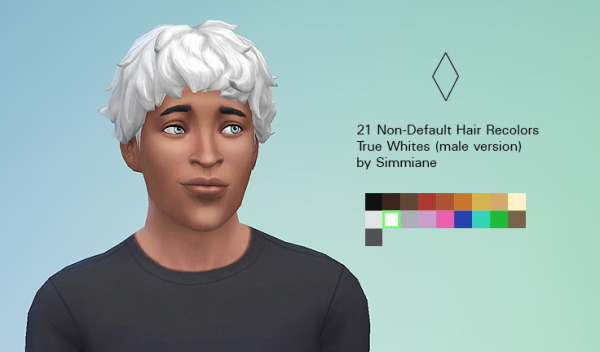Simmiane: True White Hairstyle for Sims 4