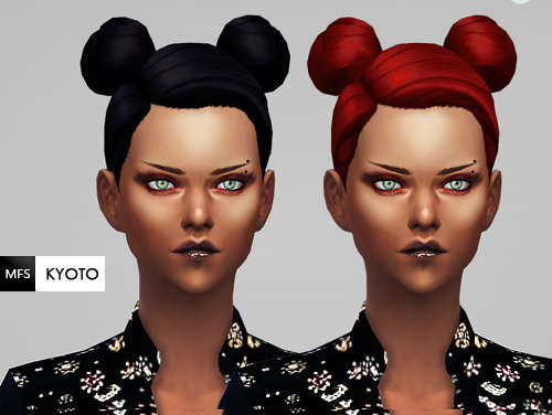 Miss Fortune Sims: New hairstyle mesh edit 6 colors available for Sims 4