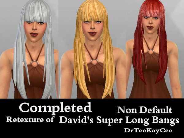 Sim Culture Nation: David Super long bangs hairstyle retextured for Sims 4