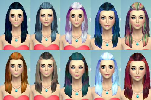 Darkiie Sims 4: 31 Hairstyle recolors for Sims 4