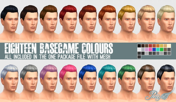 Simsational designs: Sleek Pompadour Female to Male Hairstyle Converted and Edit for Sims 4