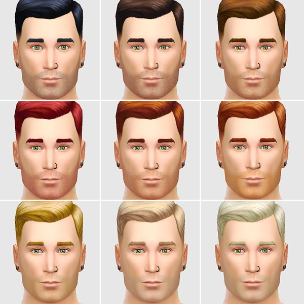 Lumia Lover Sims: Stubble hairstyle for Sims 4