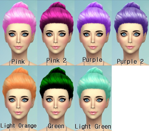 Darkiie Sims 4: 22 Non default Hair Recolors for Sims 4