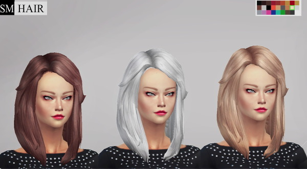 Simmaniacos: Hair MedWavySwepSoft   edit mesh and new 8 textures for Sims 4