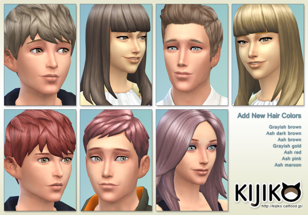 Kijiko Sims: New hairstyle for Sims 4