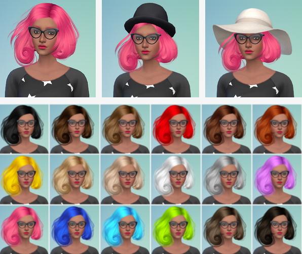 Sims Serenity: Sintiklia`s Scarlet hairstyle retextureb for Sims 4