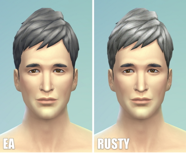 select a Website   : Short neat hairstyle gray for Sims 4