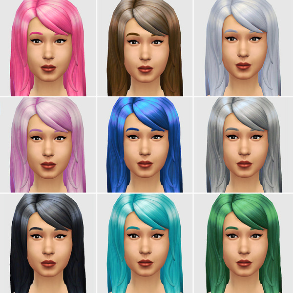Lumia Lover Sims: The Jessica DePoofed hairstyle for Sims 4