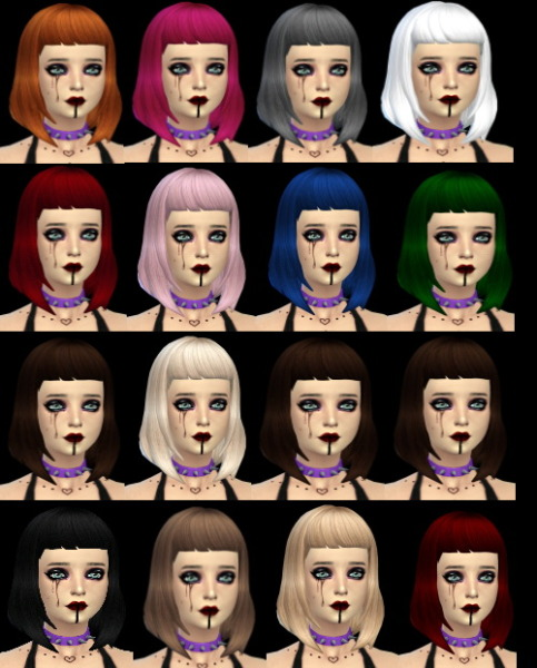 Isolated: Missfortunesims hairstyle retextured for Sims 4