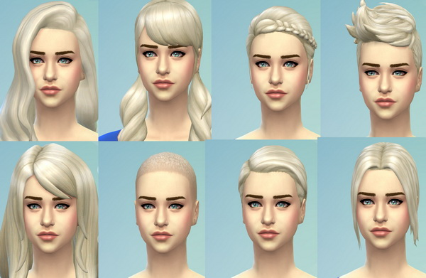 Mod The Sims: Targaryen Blonde Hairstyles by kellyhb5 for Sims 4