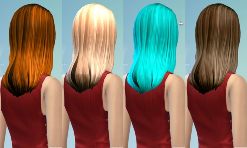 Darkiie Sims 4: Non default Hairstyle Part 2 for Sims 4